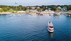 Satisfy your carnival cravings—wooden coasters and all—at these nostalgic lakeside amusement parks. Torch Lake, Float Your Boat, Small Lake, Michigan Travel, Boat Tours, Lake Superior, Wakeboarding, White Sand Beach, Great Lakes