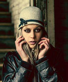 Fur Felt Cloche Hat in Grey-The Lillian