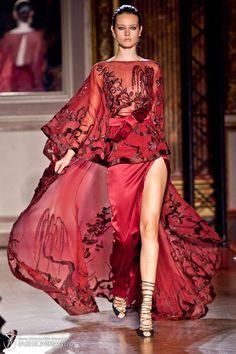 Zuhair Murad red gown.