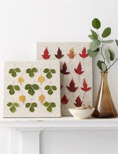 Thanksgiving Decorating Ideas: Pressed Leaves #thanksgiving #family #fallleaves