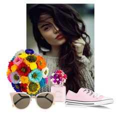"""""""II"""" by belle-papillon ❤ liked on Polyvore featuring Converse and Fendi"""
