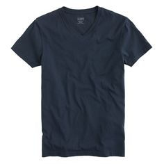 Slim broken-in V-neck T-shirt in navy from J. Crew