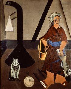 Interior (A Esposa do Fazendeiro). Óleo sobre tela. 1922-1923. Joan Miró (1893-1983). Encontra-se no Museu Nacional de Arte Moderna. Centro Georges Pompidou. Doação ao Estado Francês, 1997.
