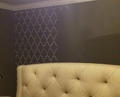 My Passion For Decor: Master Bedroom Makeover Using Cutting Edge Stencils