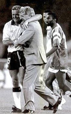 Gazza and Sir Bobby Robson at Italia 90