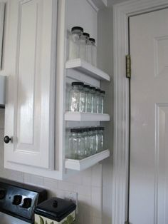 s 12 space saving solutions for your tight kitchen, kitchen design, shelving…