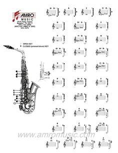Trombone Fingering Chart  Band Resources    Trombone