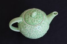 A personal favorite from my Etsy shop https://www.etsy.com/ca/listing/245310779/green-pottery-floral-crown-ducal-teapot
