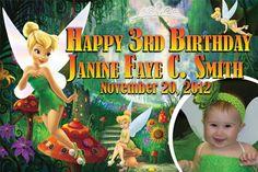 Birthday Tarpaulin Tinkerbell Theme Template