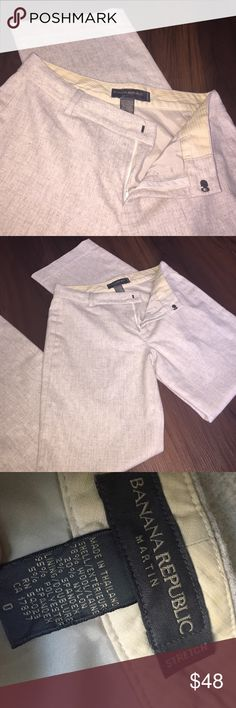 """Banana Republic stretch wool dress pants Brand new. No tags. Martin fit. Wool/nylon blend with a polyester/spandex lining. Oatmeal color. 30"""" inseam. 15"""" across waist Banana Republic Pants Trousers"""