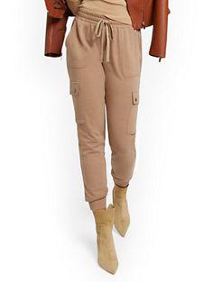 NY&C: Linen Belted Boyfriend Pant Boyfriend Pants, Your Perfect, Slim Legs, Petite Fashion, Fit Women, Joggers, Khaki Pants, New York, My Style