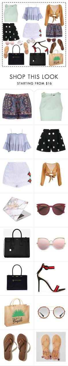 """""""Vibe with me 💋"""" by sole-rack ❤ liked on Polyvore featuring Joie, TIBI, Sans Souci, Boutique Moschino, Recover, Salvatore Ferragamo, Yves Saint Laurent, Gianvito Rossi, Mother Trucker and Gucci"""