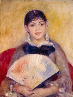 Pierre-Auguste Renoir, Alphonse Fournaise (Girl with a Fan)