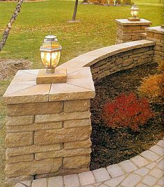 Image detail for -include: boulder walls, block retaining wall, brick pavers, steps ...