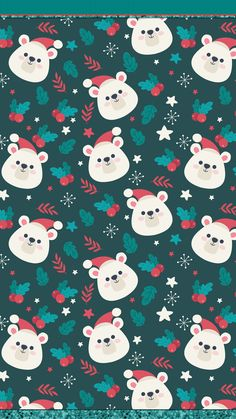 New Christmas Screen Savers Wallpapers Xmas Ideas Hello Kitty Wallpaper, Kawaii Wallpaper, Trendy Wallpaper, Cute Wallpapers, Polar Bear Wallpaper, Christmas Phone Wallpaper, Holiday Wallpaper, Winter Wallpaper, Noel Christmas