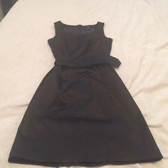 Black Satin-Y H&M Size 8 Audrey Hepburn Dress