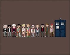 Doctor Who Cross-stitch Pattern by weelittlestitches