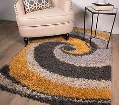 Helsinki ochre mustard #yellow swirl #pattern living room bedroom #shaggy area ru,  View more on the LINK: http://www.zeppy.io/product/gb/2/361691927827/