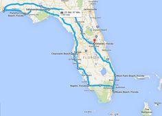 Auf der Suche nach einer längeren Reiseroute für FLORIDA? Hier haben wir Euch eine große Rundreise (Route) zusammengestellt.