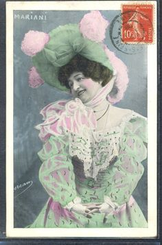 QK117 ARTIST STAGE STAR MARIANI FANCY HAT Tinted PHOTO pc OGEREAU