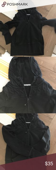 Lululemon scuba black sweatshirt Lululemon good condition with wear! Black scuba sweatshirt sz 4 lululemon athletica Jackets & Coats Puffers