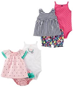 Baby & Toddler Clothing Hard-Working Baby Girl Vests Bodysuits Dress Clothes Bundle 6-9 Months Excellent Condition