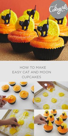 Really easy and adorable Halloween cupcakes for kids | Cakegirls Step x Step