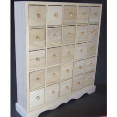 25 Drawer Plain Wooden Storage Box - Also Makes A Fantastic Advent Calendar ! - Wooden Advent Calendars - Plain Wooden Boxes & Decoupage Blanks | Craftmill