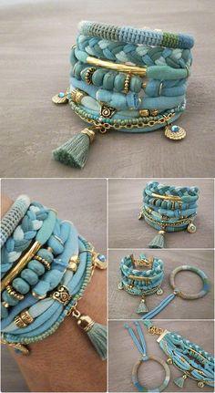 Bracelet Bohème gitane Turquoise Seafoam Boho Bracelet