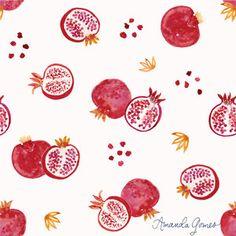Pomegranate Pattern ©Amanda Gomes • delightedco.com