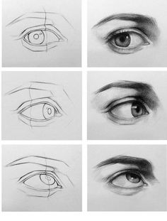Charcoal Drawing Tips Eye drawing steps Eye Drawing Tutorials, Drawing Techniques, Drawing Tips, Art Tutorials, Painting & Drawing, Drawing Ideas, Sketching Tips, Basic Drawing, Drawing For Beginners
