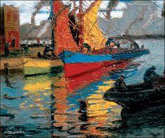 Benito Quinquela Martín Define Like, Coastal Art, Seascape Paintings, Heart Art, Figurative Art, Art Nouveau, Fine Art, Abstract, World