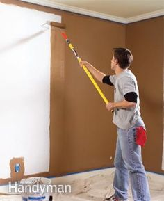 Great advice for getting a smooth, even coat of paint over walls, ceilings and trim