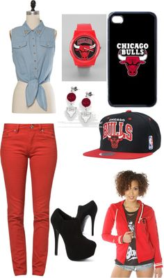 """bulls3"" by ruth-yael-cerda ❤ liked on Polyvore"