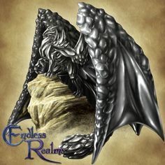 Endless Realms bestiary - Hematite Dragon by jocarra on DeviantArt Mythical Creatures Art, Mythological Creatures, Magical Creatures, Fantasy Creatures, Dragon Sketch, Dragon Pictures, Creatures Of The Night, Fantasy Armor, Creature Feature