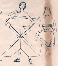 This pattern, Advance is for a diaper wrap style vintage swimsuit. We all know who was the master of the diaper swimsuit right? Diy Clothing, Sewing Clothes, Clothing Patterns, Coat Patterns, Dress Sewing, Blouse Patterns, Doll Clothes, Sewing Tutorials, Sewing Crafts