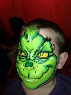Grinch Face Paint | Via Kimberly Workman