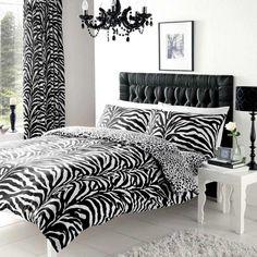 Zebra Skin Print King Duvet Cover Bedding Set | Fruugo