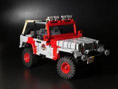 Jurassic Park Jeep, Lego Jurassic World, Lego Tv, Lego Bedroom, Amazing Lego Creations, Lego News, Wrangler Unlimited, Monster Trucks, Toys