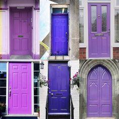 Purple Doors by:  R1C1: @door_doork R1C2: @northendhalifax R2C1: @bicsophone  R2C2: @pickerswife R3C1: @cassiebyrom R3C2: @serola  Congratulations!  Tag #windowsanddoorsoftheworld to be featured! #purpledoors