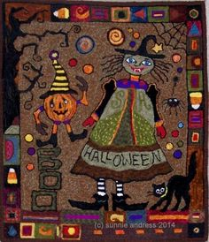 July 2014 Halloween Friends and Fun-mystery rug/Sunnie/ FINISHED!