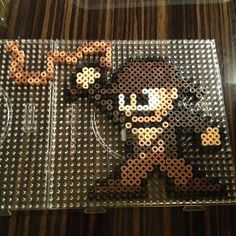 Indiana Jones perler beads by sajagee