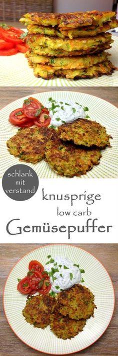 low carb Gemüsepuffer Rezept Eier ersetzen dann vegan basisch