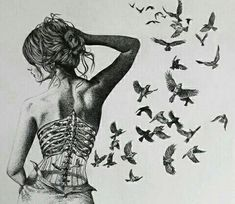 """Young Artist Making Awesome Pictures with Drawing Techniques He Learned from His Father: """"Helen Rose"""" - DIY Fashion Pictures Anatomy Art, Bird Drawings, Drawing Birds, Pencil Drawings, Art Graphique, Drawing Techniques, Surreal Art, Dark Art, Art Sketches"""