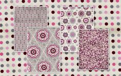 David Textiles, Fat Quarter Bundle Of 5, FQB114, 100% Cotton Fabric, Burgundy, Gray, Pink, Various Prints by OhSewWorthIt2Quilt on Etsy