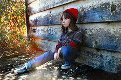 little boy pose.