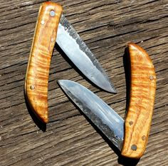 Folding Pocket Knives hand forged in Eaton Rapids by ironjohnlogan, $150.00