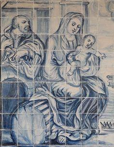 Do Tempo da Outra Senhora: O Natal na Azulejaria Portuguesa Antique Tiles, Vintage Tile, Disney Little Mermaids, The Little Mermaid, Tile Art, Mosaic Tiles, Portugal, Tile Panels, Portuguese Tiles