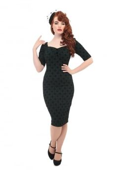 Dolores Half Sleeve Brocade Pencil Dress