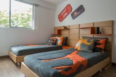 Discover a corner of the world to call your own with the top best teen boy bedroom ideas. Explore cool interior designs for teenagers. Boy Toddler Bedroom, Toddler Rooms, Kids Bedroom, Bedroom Decor, Bedroom Ideas, Twin Beds For Boys, Mexican Bedroom, Shared Bedrooms, Small Apartment Decorating